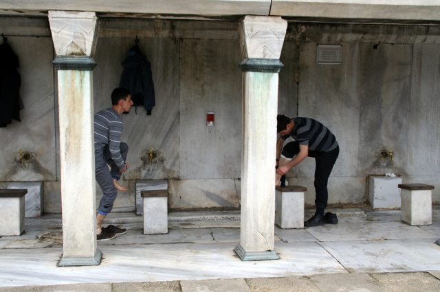 Ablutions at the Blue Mosque