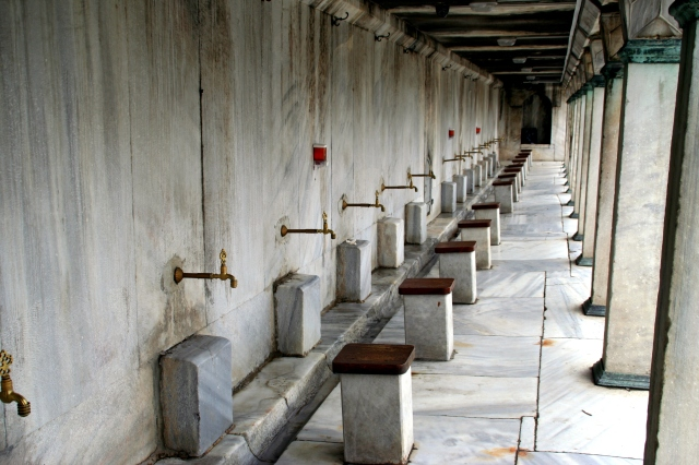 Ablutions area at the Blue Mosque