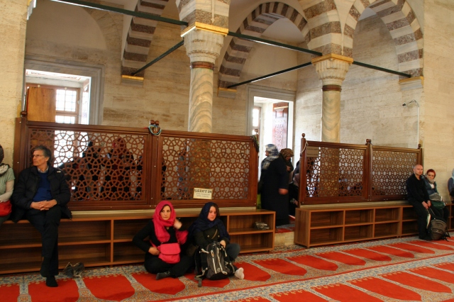 Women's section at Süleymaniye Mosque