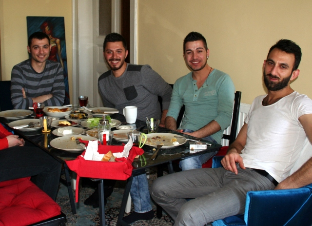 Sunday breakfast with Selim and friends