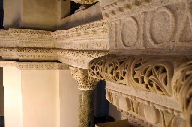 Inside Little Haghia Sophia - notice Greek letters