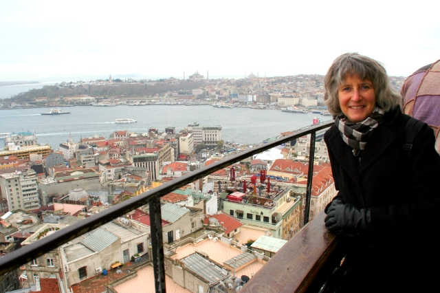 Katy at Galata Tower