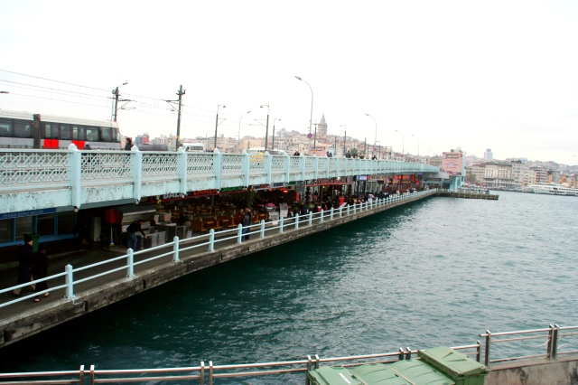 Galata Bridge fish restaurants