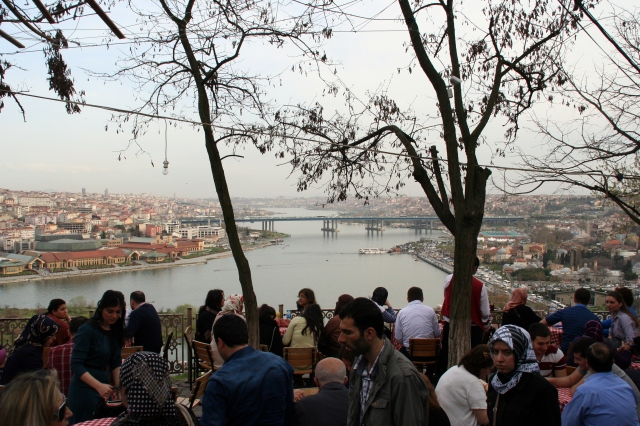 Pierre Loti Cafe: on top of Eyüp cemetery named after a French novelist