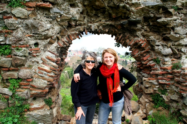 With Bryn in the castle ruins