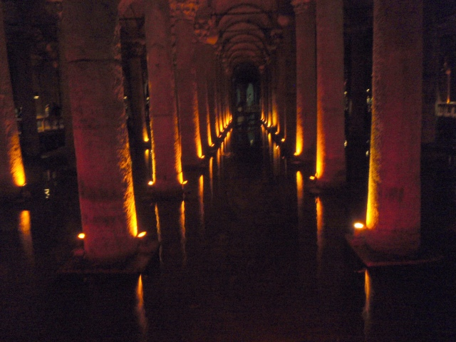 Basilica Cistern: 336 columns, each over 8 m (26 ft) high, built in 532