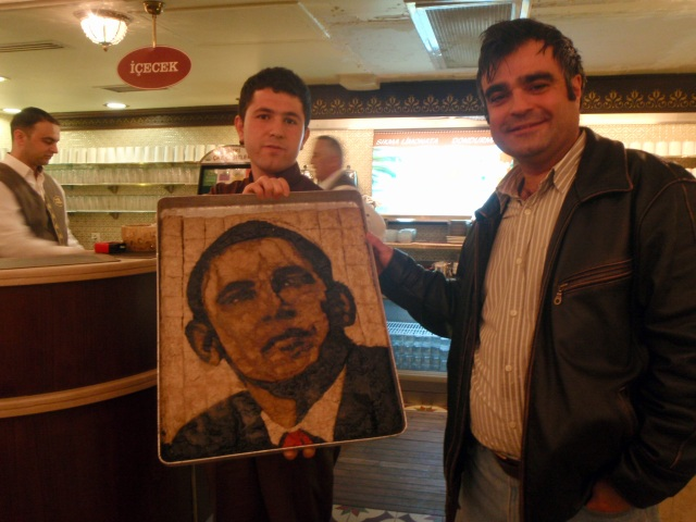 Obama in baklava